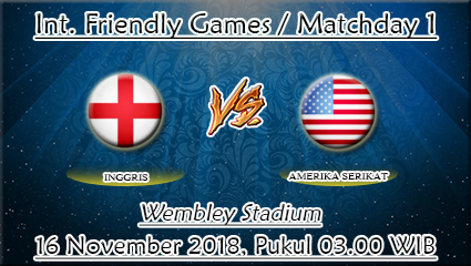 Prediksi Bola Inggris Vs Amerika Serikat 16 November 2018