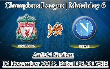 Prediksi Bola Liverpool Vs Napoli 12 Desember 2018