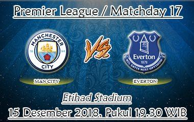 Prediksi Bola Manchester City Vs Everton 15 Desember 2018